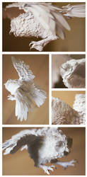 Paper Sculpture - Owl by TinyOmelet