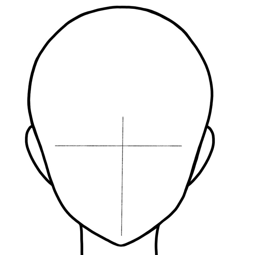 female manga head template by bebleyart on deviantart With anime head template