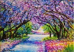 Path of Jacaranda Trees Jessica Hamilton