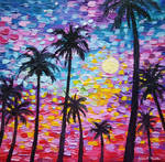 Sunsets In Florida, Oil on Canvas,Jessica Hamilton