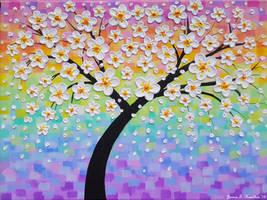 Cherry Blossom Rainbow by JessicaTHamilton