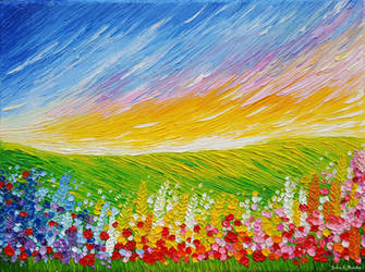 Field of Flowers 2 by JessicaTHamilton