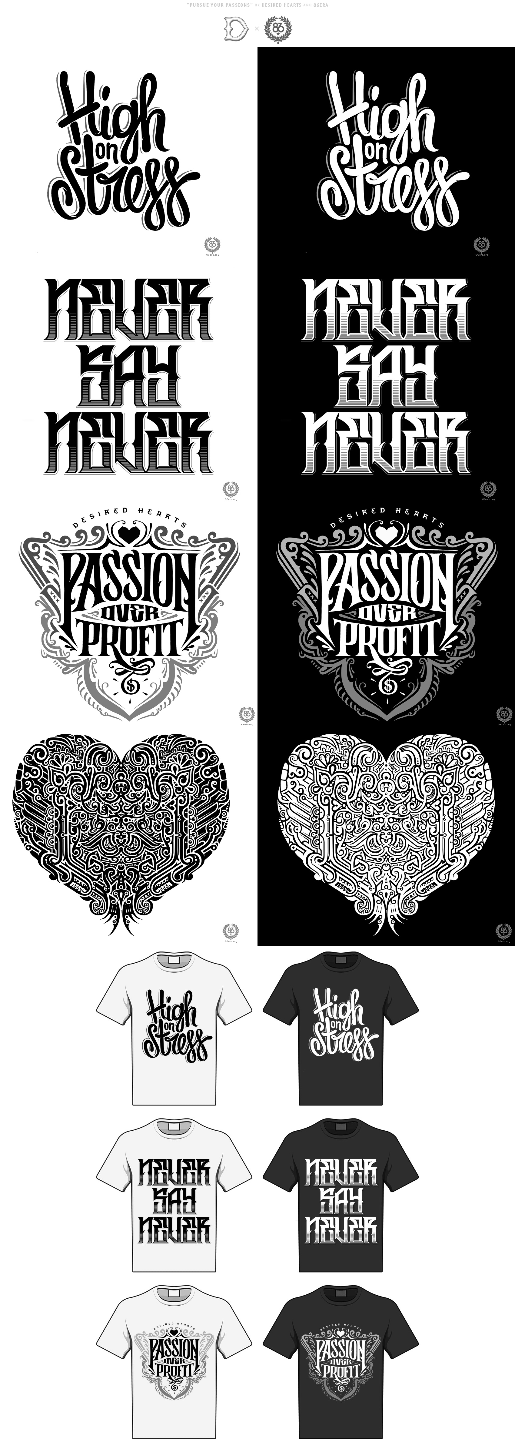 Desired Hearts x 86era tees by lordmx