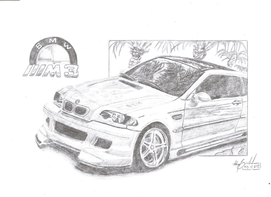 bmw m3 e46 by anumbertwopencil on deviantart
