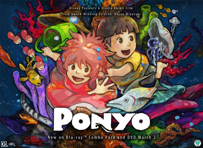 Ponyo and Sosuke by buraisuko