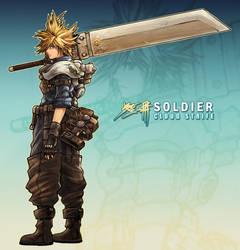 Cloud Strife: Soldier by buraisuko