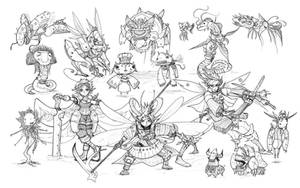 BUGS: sketches by buraisuko
