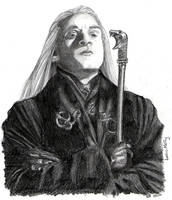 Lucius Malfoy and Pimp Cane by elvidnir
