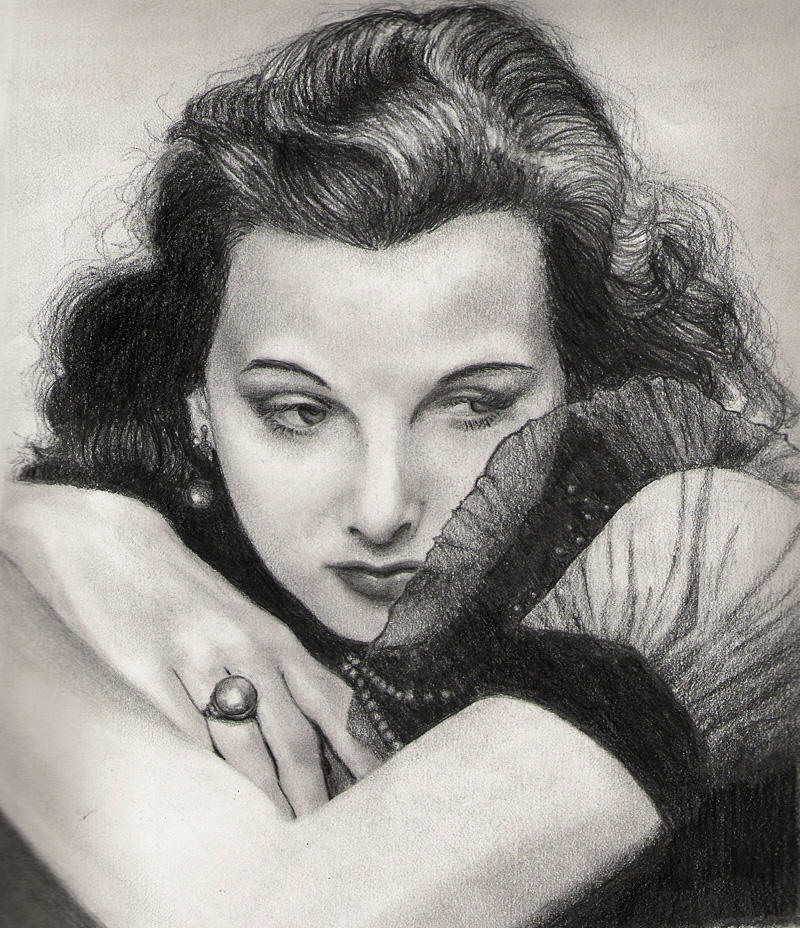 Hedy Lamarr by elvidnir
