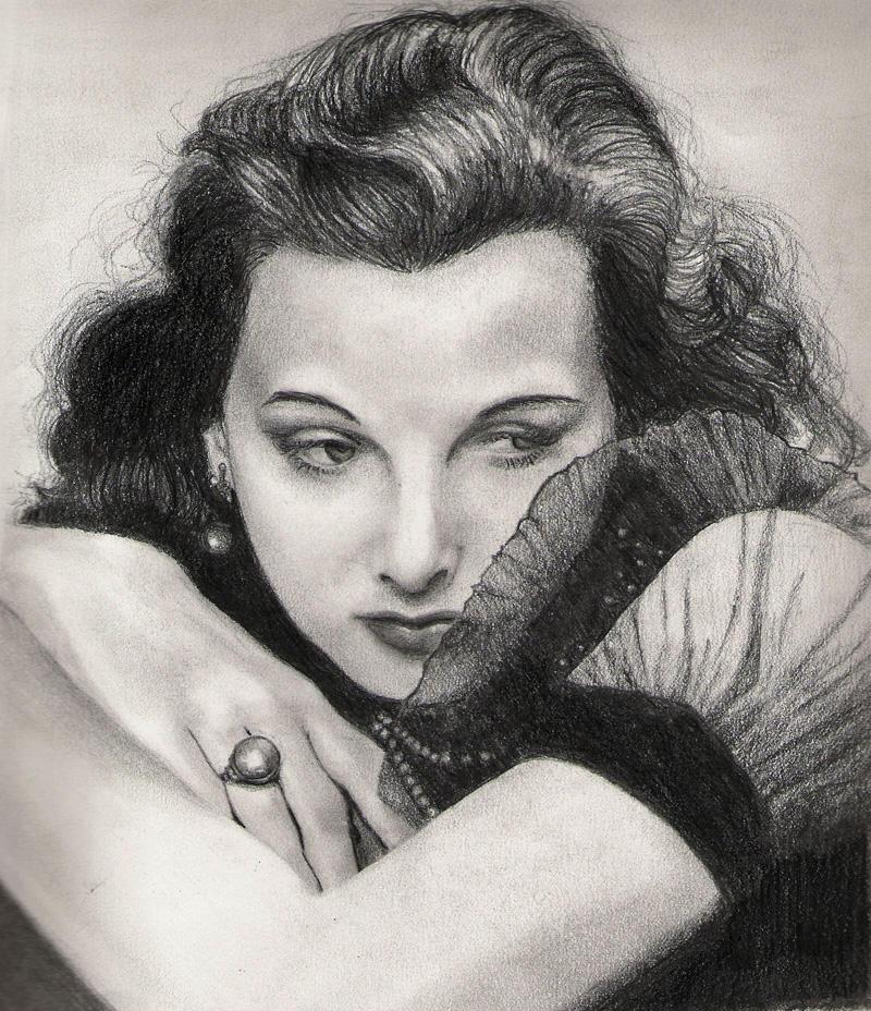 Hedy Lamarr by elvidnir