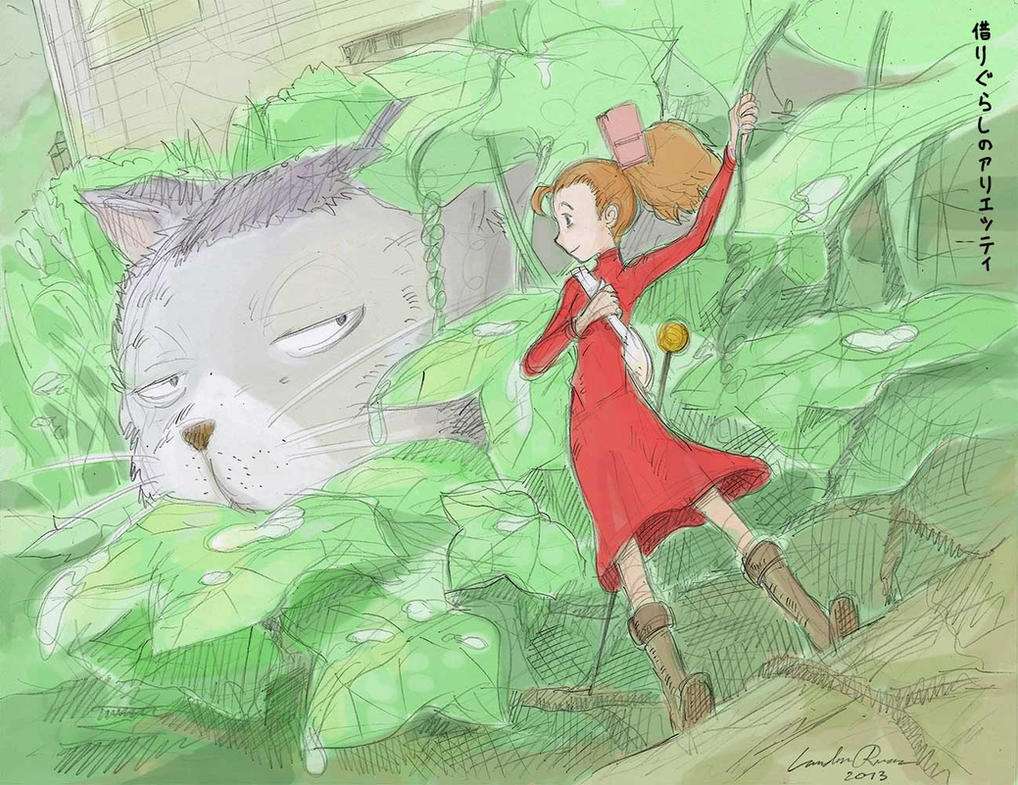 Kari gurashi no Arietti (The Borrower Arrietty) by N-City
