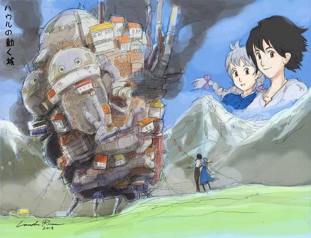 Hauru no ugoku shiro (Howl's Moving Castle) by N-City