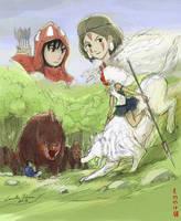 Mononoke hime (Princess Mononoke) by ncillustration