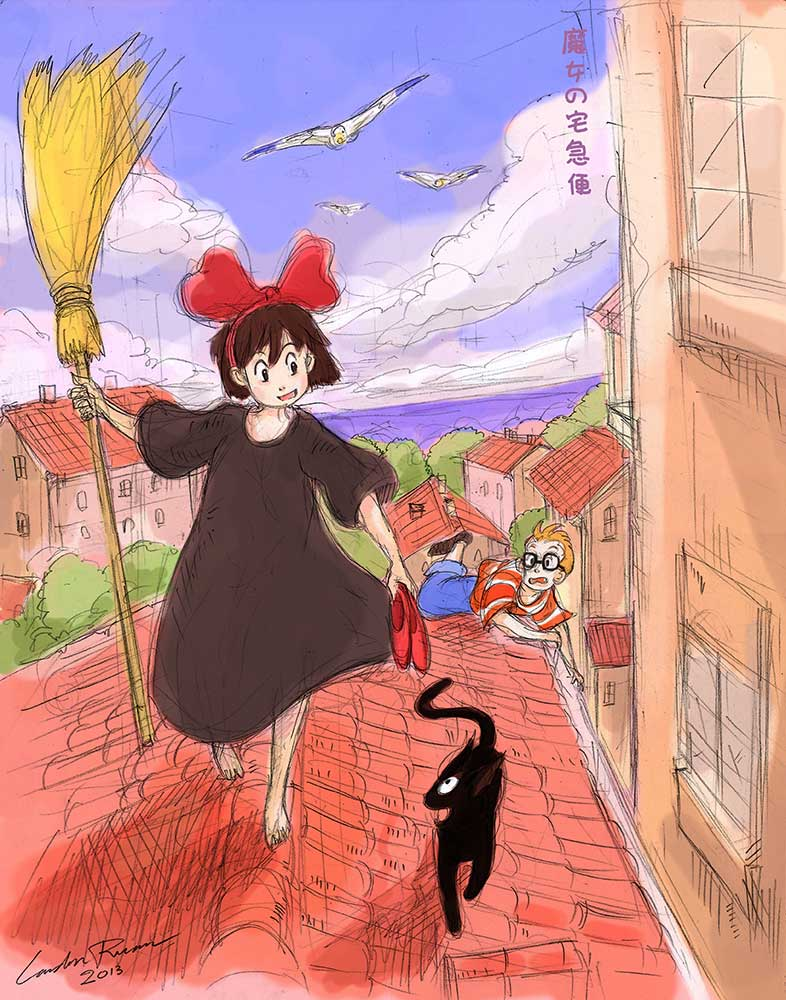 Majo no Takkyubin (Kiki's Delivery Service) by N-City