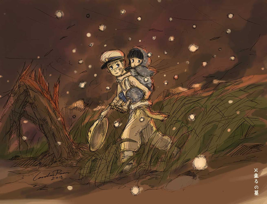Hotaru no Haka (Grave of the Fireflies) by ncillustration