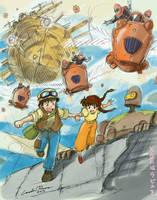 Tenku no Shiro Rapyuta (Raputa: Castle in the Sky) by ncillustration