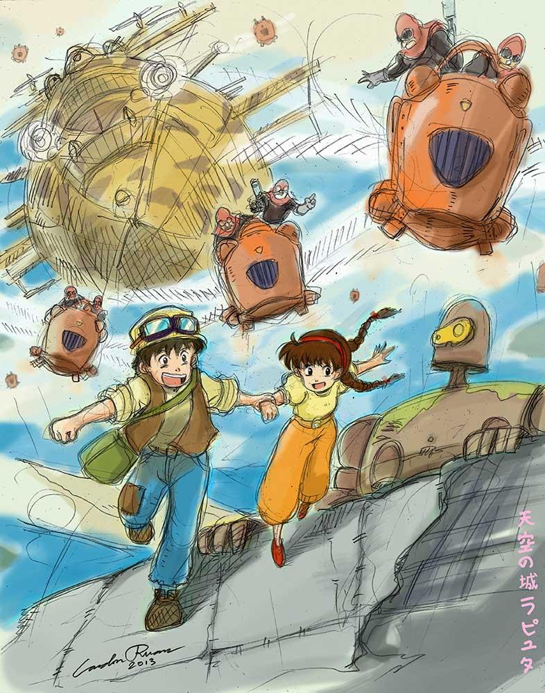 Tenku no Shiro Rapyuta (Raputa: Castle in the Sky) by N-City