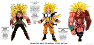 Who's the most powerful super saiyan? by ncillustration