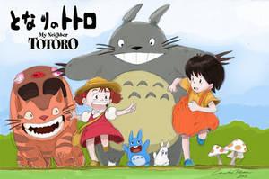 My Neighbor Totoro by ncillustration