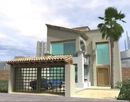 contemporary mexican house