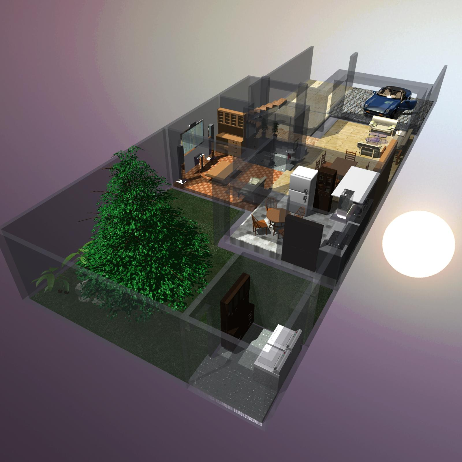 Residential interior, 2