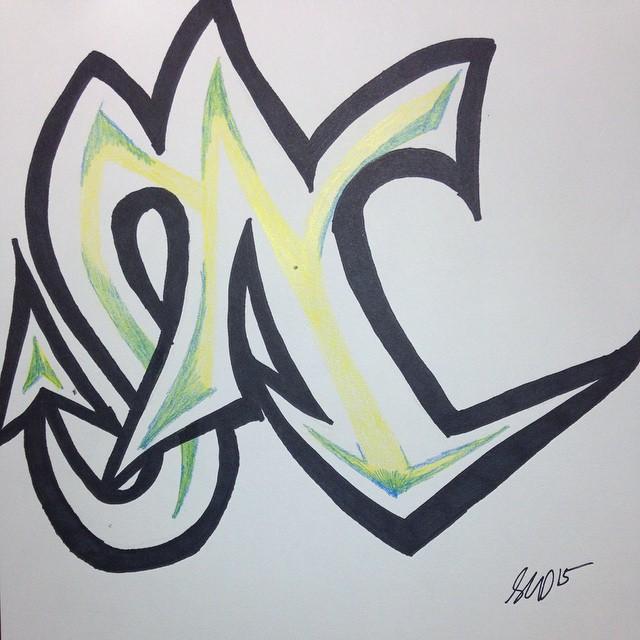 N Graffiti Letters Graffitis N