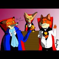 Zootopia -vampire foxes - selfie by Porythos