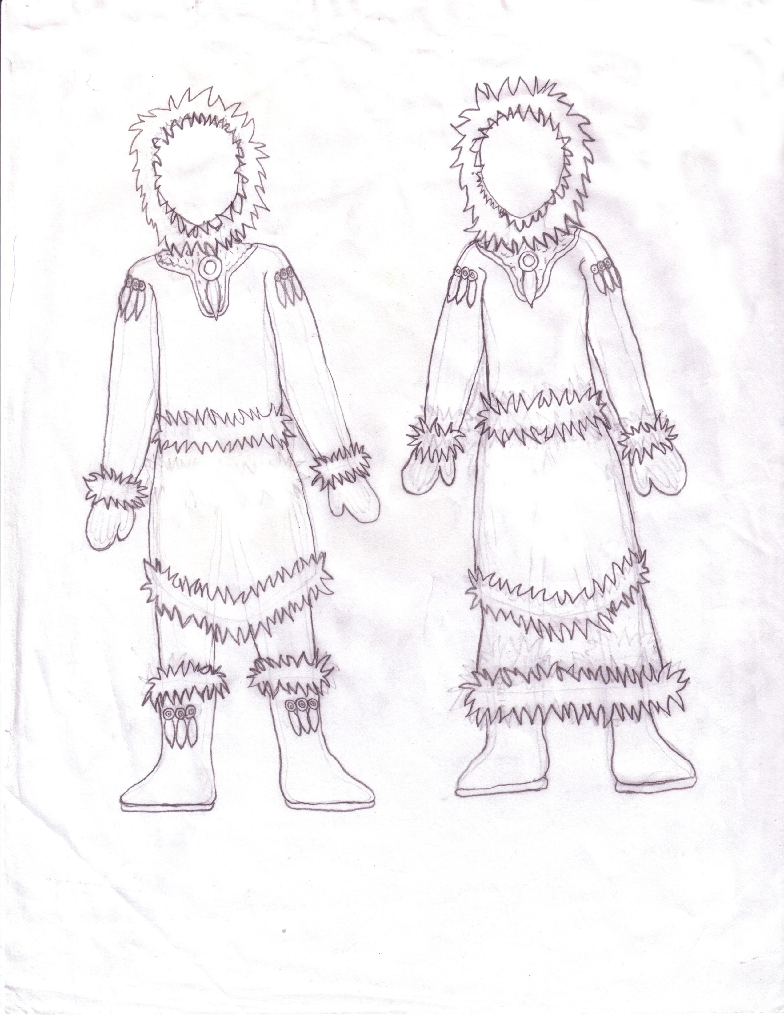 ice wolf inuit costumes l a by richellethedarknessq on deviantart