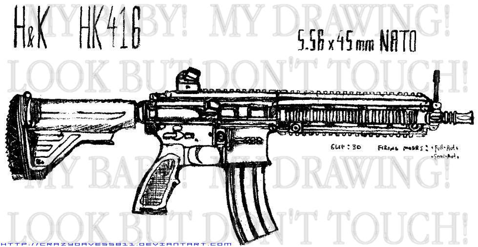 HK 416 by CrazyDave55811