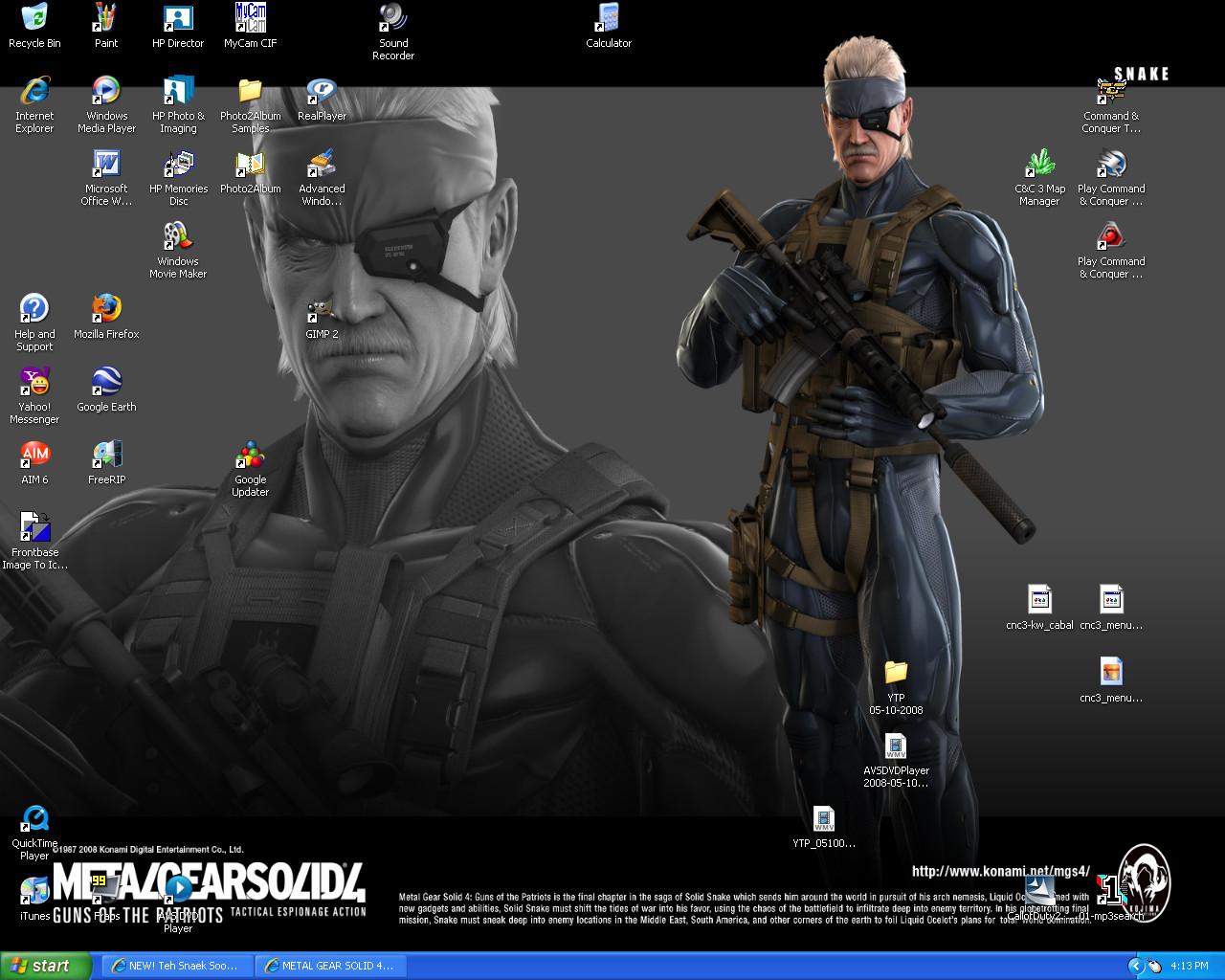 Windows XP - Old Snake by CrazyDave55811