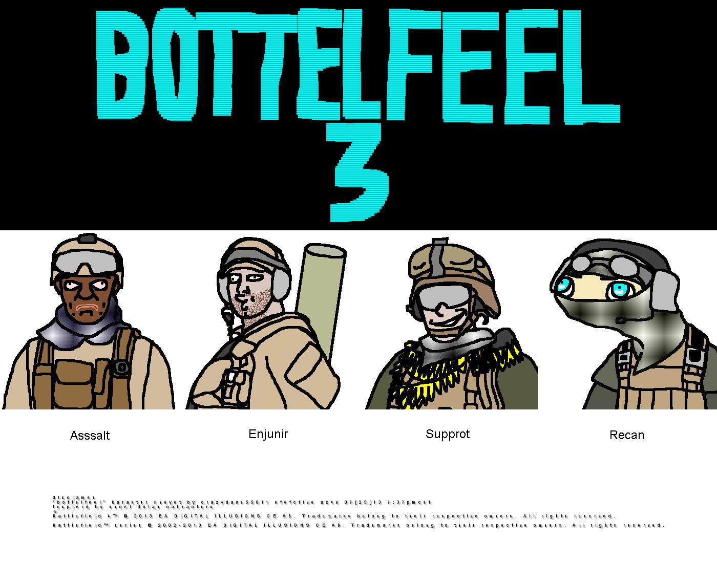 Bottelfeel Chraacturs by CrazyDave55811