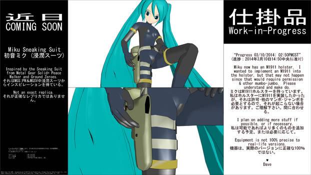 MMD WIP - Miku Sneaking Suit - 03-10-2014