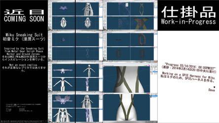 MMD WIP - Miku Sneaking Suit - 03-14-2014