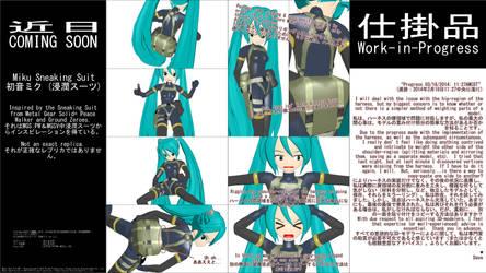 MMD WIP - Miku Sneaking Suit - 03-18-2014