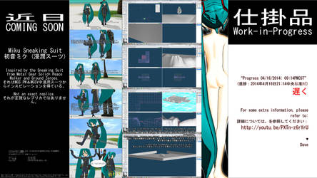 MMD WIP - Miku Sneaking Suit - 04-16-2014 (LATE) by CrazyDave55811