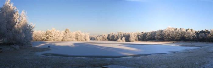 Snowy Pano by CeeJa