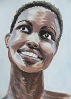 Portrait watercolor by gosia-jasklowska