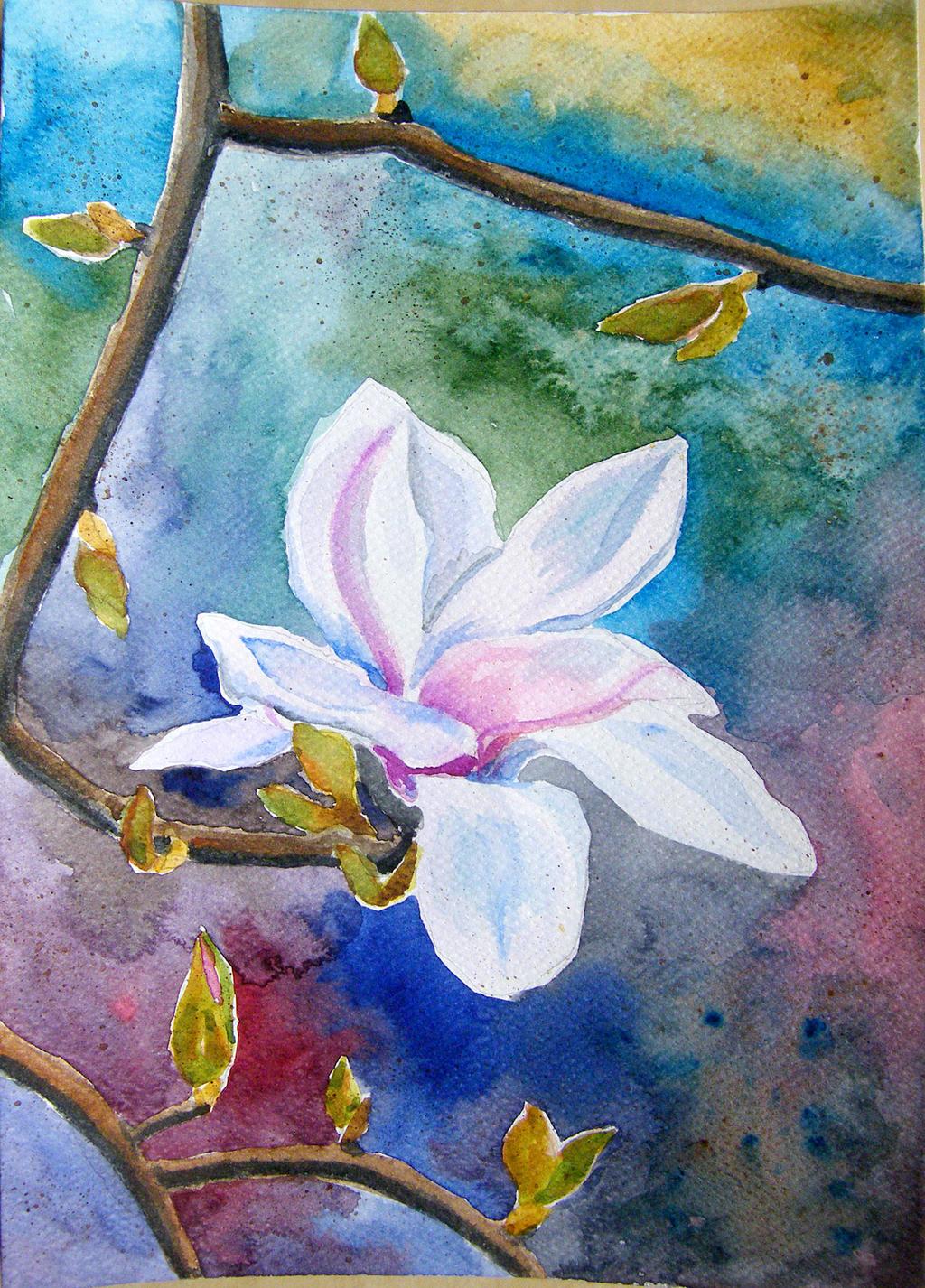 Flowers watercolor by gosia-jasklowska