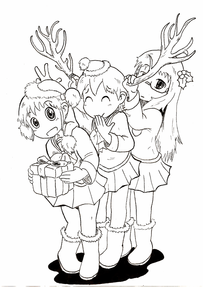 Nichijou - My Everyday Christmas by markl11 on DeviantArt