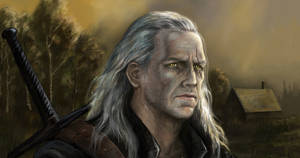 Geralt of rivia portrait by Bathorygen