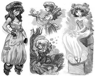 Watercolor Sketch stuff by hanime87