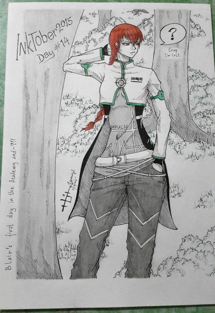 Inktober day14 by Zenemijil