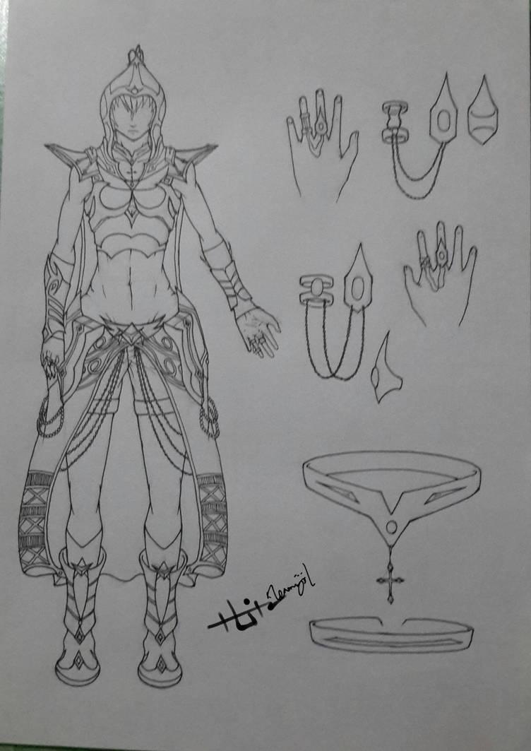 CDS Azalea's hunting outfit ver.2 (front) by Zenemijil
