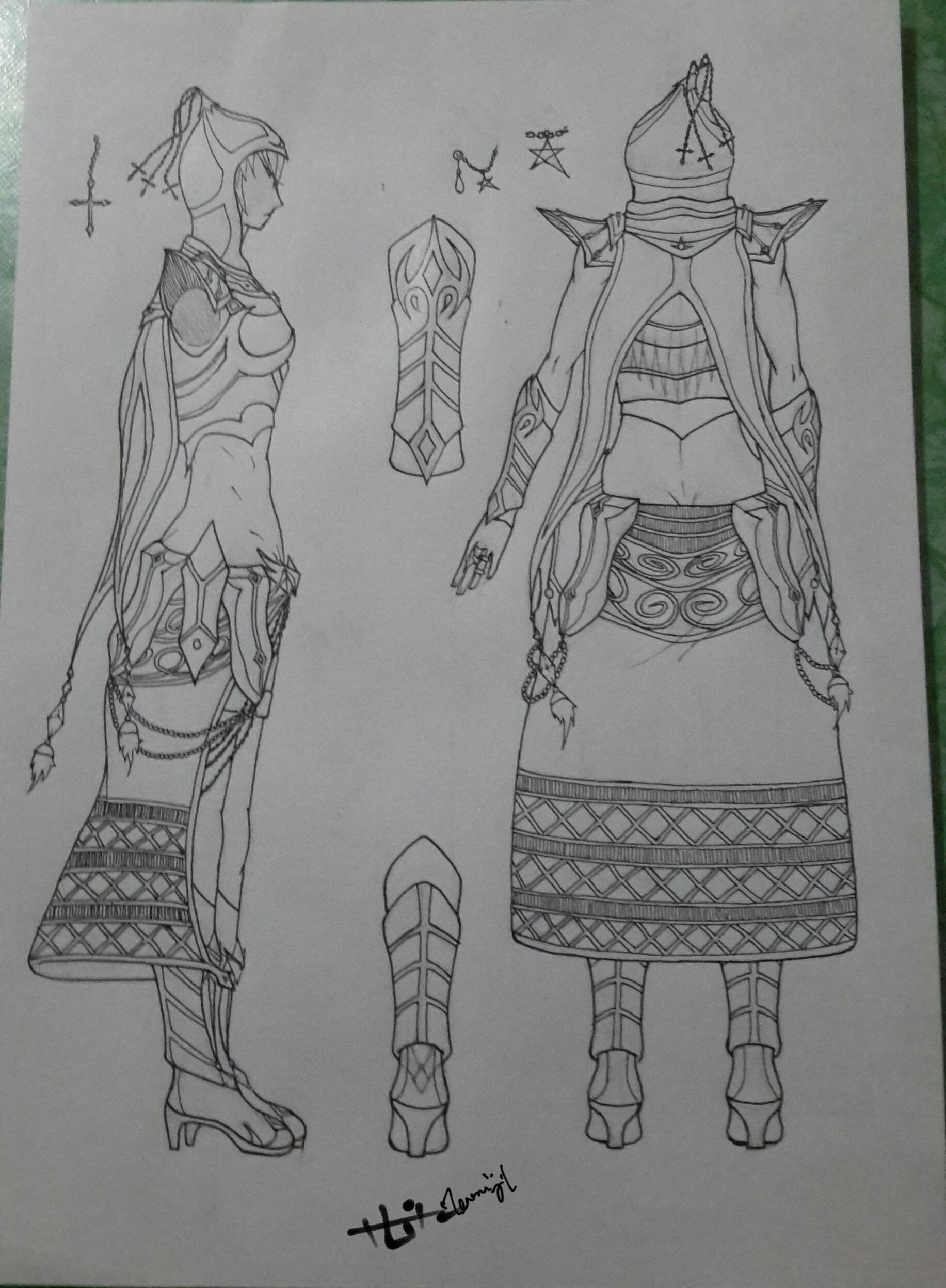 CDS Azalea's hunting outfit ver.2 (back/side) by Zenemijil
