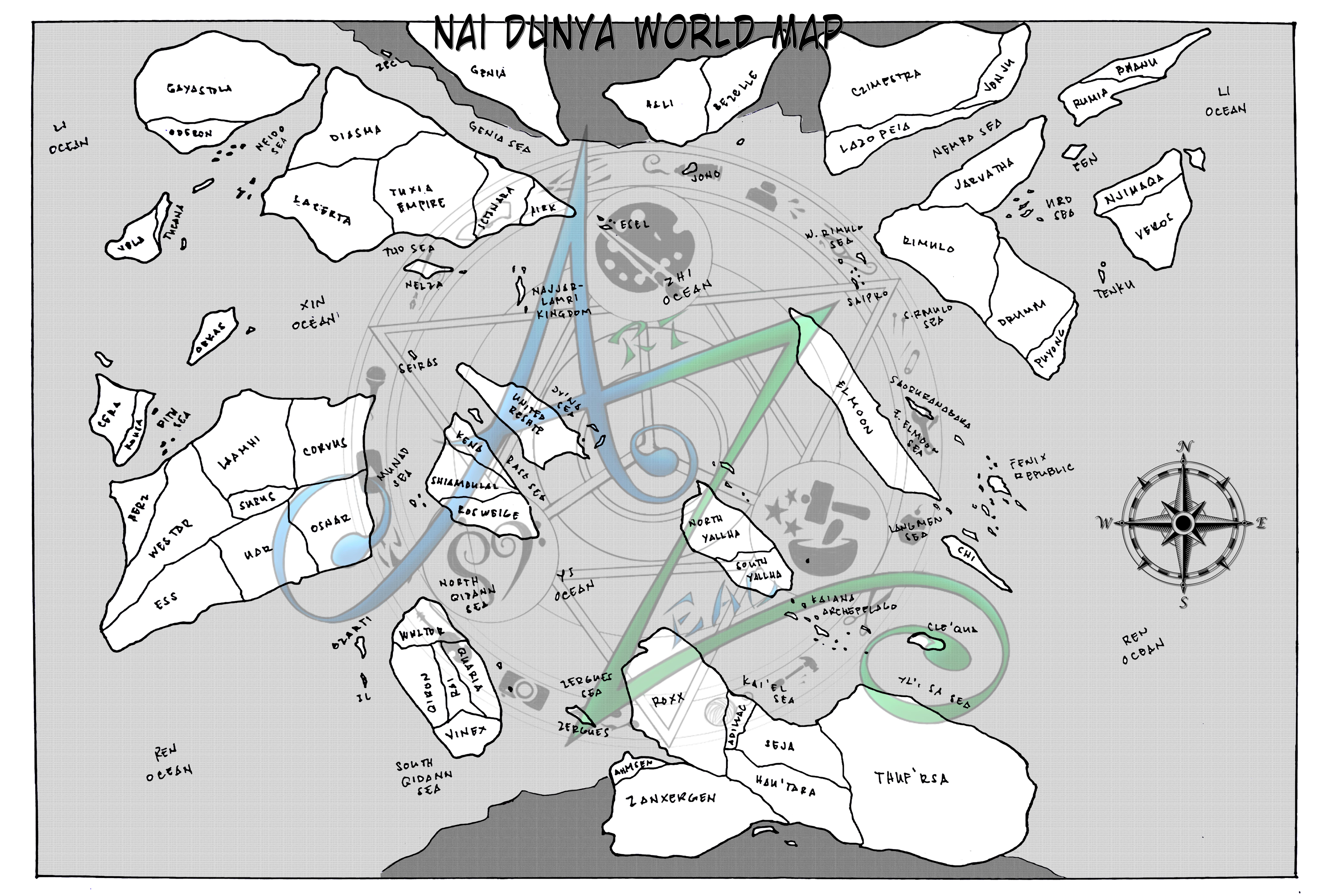 Nai Dunya World Map by Zenemijil