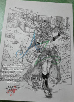 [D1] Azalea in her hunting armor (trad version)