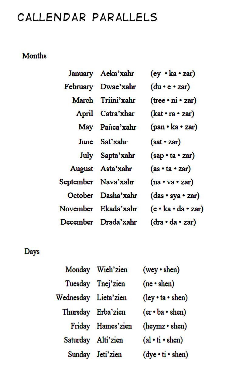 Calendar Parallel 1 by Zenemijil