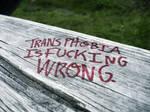 Stop Transphobia.