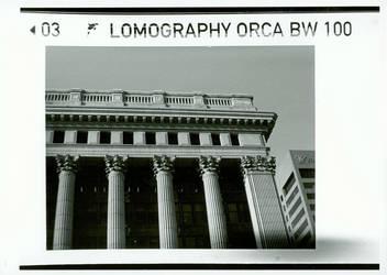 Downtown Milwaukee - LOMO 110 by photozz