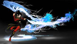 Azula Blue Lightning and Fire